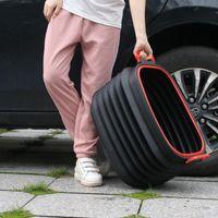 Ведра автомобильные пластиковые корзины для мусорных автоматов для автомобилей для хранения ведро для хранения портативные наружные рыболовные ведра Многофункциональные предметы домашнего хозяйства