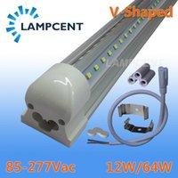 전구 4pcs / 팩 LED 튜브 조명 V 모양의 2ft 3ft 4ft 5ft 6ft 8ft 바 램프 T8 통합형 고정 장치