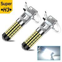 2x High Power H1 H3 LED 880 881 Auto LED Fendinebbia 1200LM 6000K Bianco Auto Fog Lampada Della Lampada Day Light 12V24V 78PCS 3014 SMD