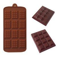 Moule en silicone 12 Moyens de moulage au chocolat Moules Fondants DIY Candy Bar Moule Cake Decoration Outils Cuisine Cuisine Accessoires 594 R2