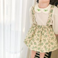 2021 New Spring Floral Printed Baby Girls Suspenders Dress K...