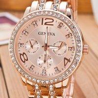 Designer Luxe Merk Horloges Relogio Feminino Beroemde Gold Crystal Geneva Casual Quartz Dames Roestvrijstalen Jurk Es Mannen Klok