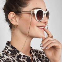 2021 Nova Moda Óculos De Sol Mascarando Correntes Para Mulheres Acrílico Pérola Cristal Óculos Correntes de Lanyard Glass Jewelry Atacado