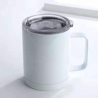 Sublimation 12oz Double-layer Stainless steel Mug Insulated Vacuum Handle Coffee Tumblers Cup DHL Ship HH21-363