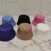 Lüks Tasarımcı Toptan-Yaz Güneşlik Şapka Koruma Balıkçılık Marka Yüksek Kaliteli Saf Renkli Harfler Bob Boonie Kova Şapkalar Yaz Kapaklar