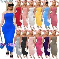 2020 Yaz Kadın Tek parça elbise Katı Renk Kolsuz Uzun Elbise Nightclub Elbise Yuvarlak BODYCON Boyun Tek adımlı Etek DHL Ty749 Maske