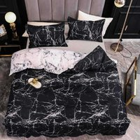 Marble Bedding Set For Bedroom Soft Bedspreads Double Bed Home Comefortable Duvet Cover Quality Quilt And Pillowcase 210608