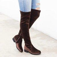 LASPERAL SLIM Stiefel Sexy über dem Wildleder Frauen Schneeschuhe Womens Mode Winter Oberschenkel Hohe Schuhe Frau B52C #