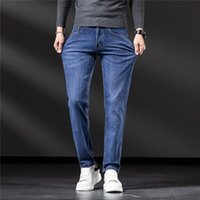 Autumn Winter Styles Mens Jeans Designer Business Casual Embroidery Print Stretchy Destroyed Hole Taped Slim-leg Fit Denim Scratched High Quality Trousers W28-W38