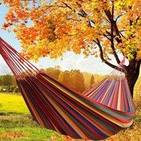 다채로운 해먹 2 사이즈 Hamac 야외 레저 침대 침대 더블 잠자는 캔버스 스윙 해먹 캠핑 사냥 DWF7880