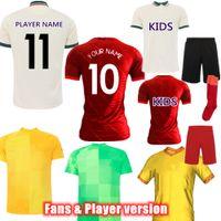 2021-22 VERSÃO DE JOGADOR Futebol Jerseys Home Away Maillots de Futebol Homens Uniforme Personalizar Nome Camisa Kid Women Kit