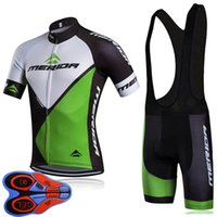Merida 팀 2020 Mens 사이클링 짧은 소매 저지 9D 턱받이 반바지 통기성 자전거 의류 야외 Sportwear Ropa Ciclismo F072420