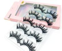 new 5 Pairs Faux 3D Mink Lashes Bulk False Eyelashes Natural Strips Short Wispy Eyelashes Makeup Tools