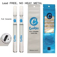Cookies Full Ceramic Disposable vape pen E-cigarettes Rechargeable 290mah battery 0.5ml Carts Empty Cartridges Packaging Lead FREE