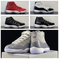Kicks88 تاجر الجملة أحذية كرة السلة 2021 11 بارد رمادي CT8012-011 / -005 الظل 11 ثانية كبيرة الشيطان 2.0 رجال الشبح المدربين الرياضة أحذية رياضية أعلى جودة مع مربع حجم 7-13