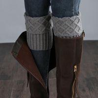 Sports Socks Cuffs Buttons For Autumn Women Knit Leg Warmer Short Boot Crochet Winter Knitted Gaiters Warmers
