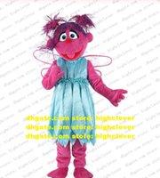 Abby cadadibby Sesame Street Abbys Costume de mascotte Elmo Personnage de dessin animé adulte Marry Nuptials Sports Meeting CX2044 Libre Ship