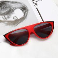 Leopard Red UV400 Stylish Eye Glasses Mirror Mens 2021 Women Sunglasses Cat Flat Unique Top Eyewear Black New Storp