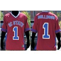 Özel Bay Gençlik Kadınlar # 1 Güney Carolina Devlet Kadın Bulldogs Futbol Forması Boyut S-5XL veya Özel Herhangi Bir Adı veya Numara Forması