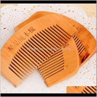 Barba in legno Pettini personalizzati Pettini in legno inciso in legno per uomo Grooming LX7467 GLKFN Brushes U0ePV