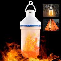 Modi Outdoor Gravity Sensor Flammenleuchten E27 LED Feuerglühbirne USB DC5V flackernde Emulationslampe Hängen Camping Tragbare Laternen