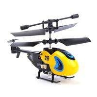 2019 Crash Resistant 8 cm Niedliche Ultra Mini 2-Kanal 3,5-Kanal RC Hubschrauberflugzeug-Drohne mit LED-Licht Gyro Spielzeug Kinder Geschenk