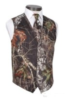 Camo Groom Vest True Timber Camo Formal Mens Vest Groomsmen Дешевые камуфляж свадебный жилет плюс размер