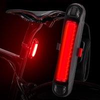 دراجة ضوء ماء الذيل ماركة دائم led usb قابلة للشحن السلامة الخلفية ركوب تحذير أضواء الدراجة السرج