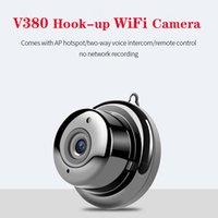 V380 مصغرة wifi كاميرا 1080 وعاء اللاسلكية الأمن الرئيسية كاميرات IP CCTV الأشعة تحت الحمراء للرؤية الليلية كشف الحركة كامكورد للطفل آمنة