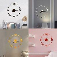 Wall Clocks Acrylic Large 3D Clock Modern Design Silent Birds Self Adhesive Digital DIY Sticker For Living Room Decor
