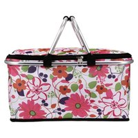 Storage Baskets 1pc Large Capacity Lunch Basket Collapsible Insulated Picnic Bag Folding