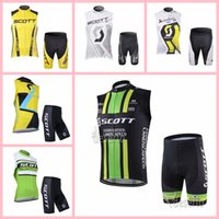 Scott Team Cyclings sin mangas Jersey Chaleco Shorts Sets Summer Mountain Bike Ropa transpirable deportes al aire libre Ropa 318024