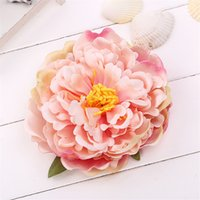 14cm Peony Flower Head Silk Artificial Large Flowers For Bohemian Hair Accessories Wedding DIY Decorative Wreath Fake Floral Wall OOD5597
