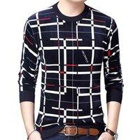 GAAJ DESIGNER Kazak Ekose Erkekler Kazak Elbise Kalın Sonbahar Kış Sıcak Jersey Örme Kazak Erkek Giymek Ince Fit Triko 210902