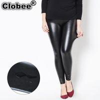 Women's Pants & Capris Fashion PU Leggings For Women Plus Sized Slim Skinny Long Pencil Trousers Black Faux Leather Leggins 5xl