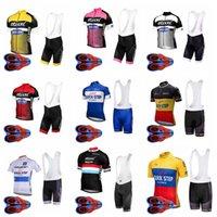 Paso rápido Equipo Ciclismo Mangas cortas Jersey BIB Shorts Sets Hombres Manga corta Pantalones cortos BIB Sports al aire libre Jersey Jerseys Full Zip S8301