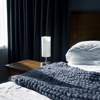 Chunky knit filt heminredning handgjorda stickning kasta varmt mjukt garn eller soffa stol sängkläder