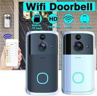 Soignons Vidéo Soorbells Visual Doorbell Wifi Door Bell M7 166 ° Universal HD Multifonctionnel interphoneal caméra à anneau audio à deux voies