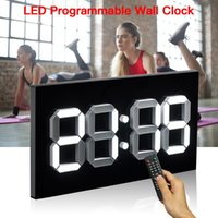 "Gym Timer Programable Remote Control 14"" LED Clock Interval Crossfit Sports Training Fitness Wall Clocks"