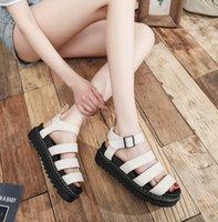 2021Summer New Platform Sandals Top Lox Sandali in pelle Sandali Roman Scarpe da donna Leggero Sandali casual traspiranti leggeri