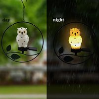 LED Solar Lamp hanging Lights Owl Bird Pendant Outdoor Garden Light For Courtyard Park Decorative Christmas gift