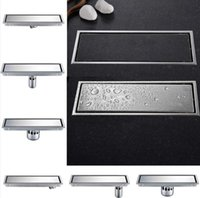 304 Thick Stainless Steel 300 X 110mm Square Anti-Odor Floor Drain Bathroom Invisible Shower Floor Drain Tile Invisible Drain