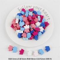 30 adet Karışık Renk Karışık Stil Desen Ahşap Spacer Boncuk Takı Yapımı Için Emzik Klip Aksesuarları için 977 T2