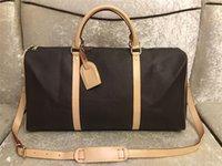 2021 Moda de Luxo Homens Mulheres de Alta Qualidade Viagem Duffle Bags Designer Bagagem Bolsas com Bloqueio Grande Capacidade Saco de Desporto 55cm