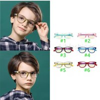 Boys Girls Silicone Sunglasses with Nose Pads Cute Transparent Sun Glasses Summer Fashion Children Anti-blue light Vintage Classic Kids Eyeg