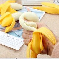 Festa favor banana squishy decompressão brinquedos engraçado espremer antistress novidade inquietação brinquedo stress relevo joking