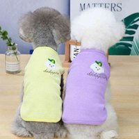 Pet clothes, embroidered vest, dog sleeveless T-shirt, dog accessories, novelty 2021