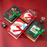 Magic Book Gift Wrap Christmas Candy Chocolate Paper Boxes Party Child Child Festival Prezenty karton Cookie Box Packing Drzewo Wisiorek Decorat NHE8673