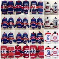 몬트리올 Canadiens Jersey 22 Cole Caufield 14 Nick Suzuki 31 Carey Price 73 타일러 토피리 15 Jesperi Kotkaniemi 27 Romanov 6 Shea Weber Reverse Retro 10 Guy Lafleur