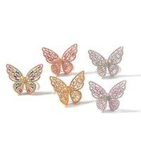 Hip Hop Butterfly Rensibable Ring für Männer Frauen Ringe Mode Bling CZ Gepflasterte Schmuck Drop 1119 B3